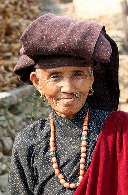 Lady in Ghale Gaun, Nepal.