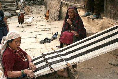Traditional weaving in Ghale Gaun, Nepal.