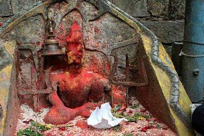 Shiva shrine, Dakshinkali, Nepal.