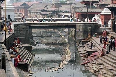 Holy Bagmati river at Pashupatinath,  Nepal.