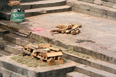 Wood for a cremation Pashupatinath, Nepal.