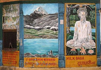 Wall painting at Pashupatinath, Nepal.