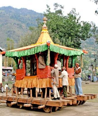 Ratha for the Raja and the God of Kullu