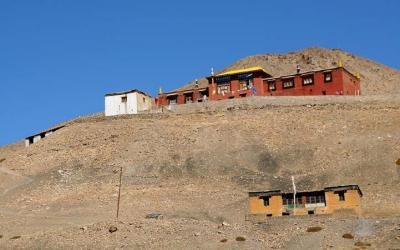 4500m high monastery in Comic Spiti
