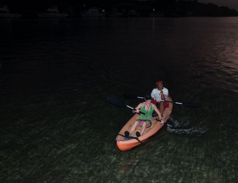 Ann and Jimmy on an evening kayak tour