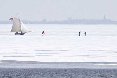 Ice sailing in Holland #4, Gouwzee Netherlands 2010