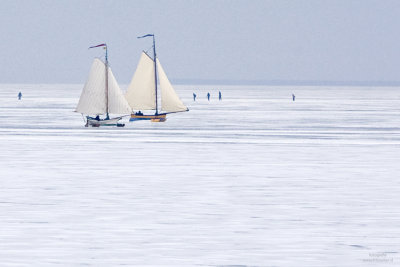 Ice sailing in Holland #3, Gouwzee Netherlands 2010