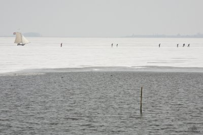 Ice sailing in Holland #5, Gouwzee Netherlands 2010
