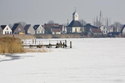 Durgerdam in winter, Netherlands 2010