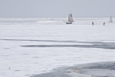 Ice sailing in Holland #2, Gouwzee Netherlands 2010