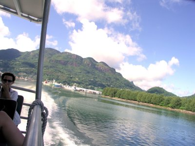 Mahe from the ferry 1