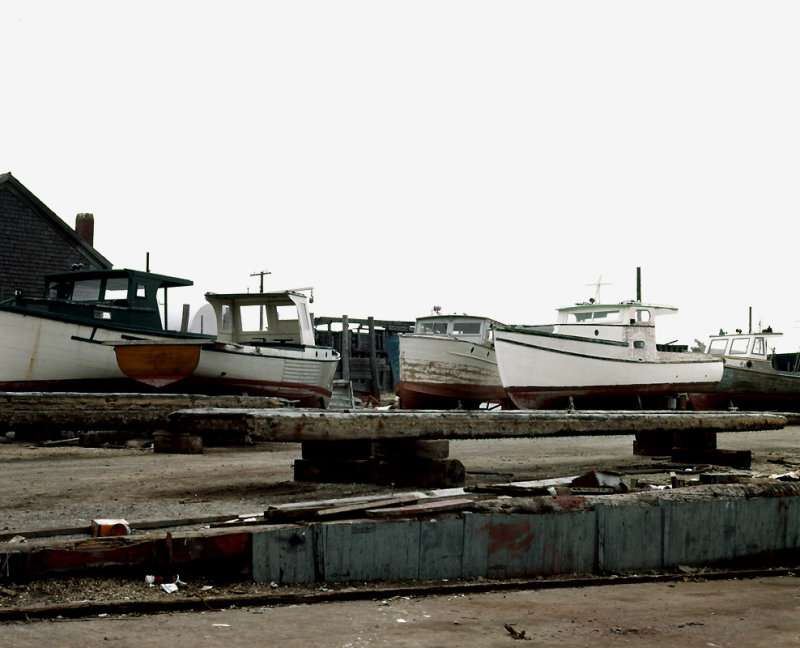 Boats being repaired at Newport in 1962