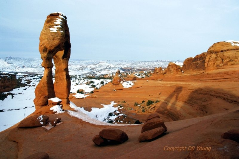 Delicate Arch and its shadow.