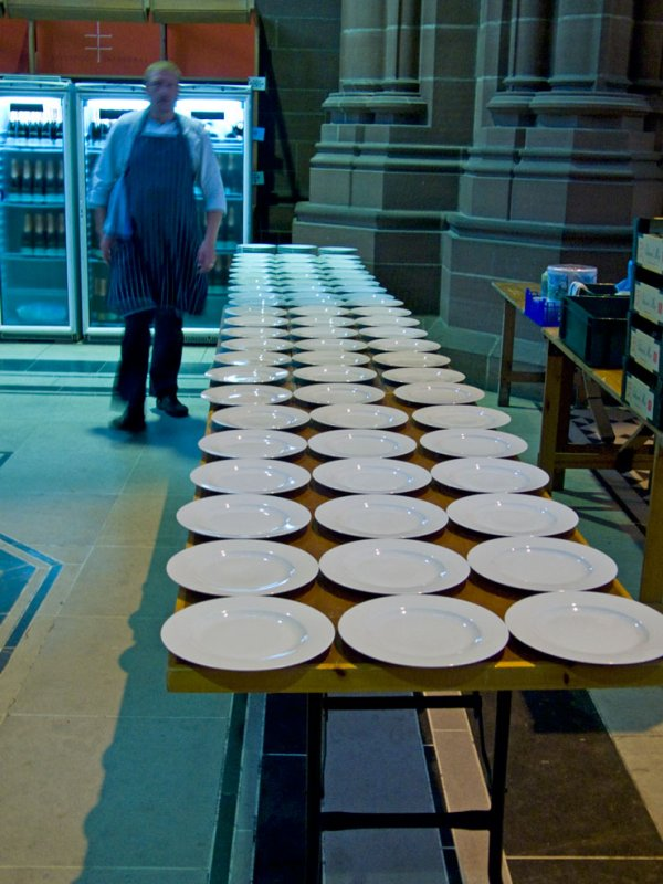 Plates at the ready
