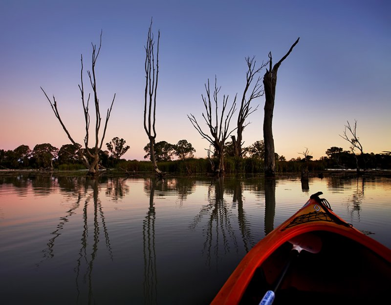 Murray River Lagoon Sunset
