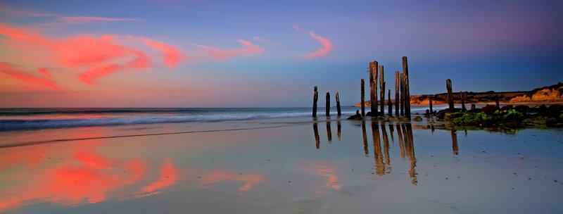 Old Port Willunga Jetty Sunset