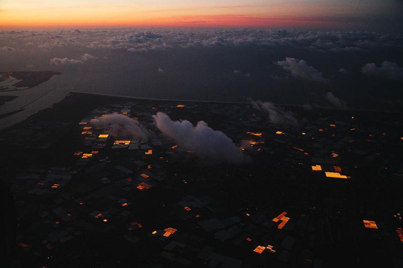 Netherlands coast as night falls 3139
