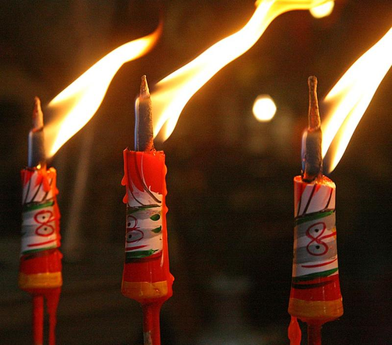Candles in the temple