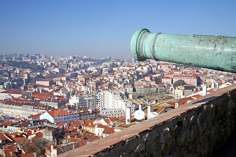 View fof Lisbon rom the castle