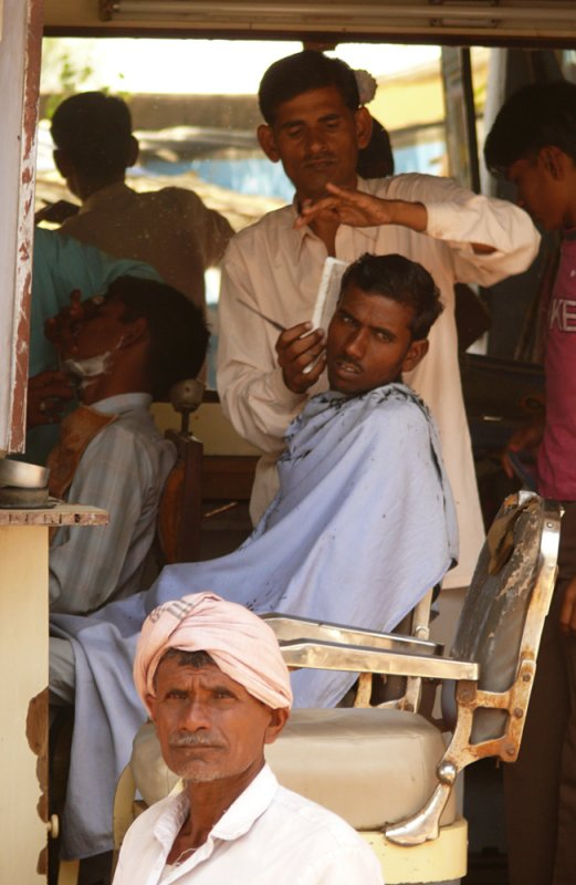 Barbershop, Chandbaori, India, 2008