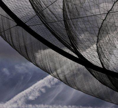 Contrails and wind sculpture, Downtown Civic Space Park, Phoenix, Arizona, 2010