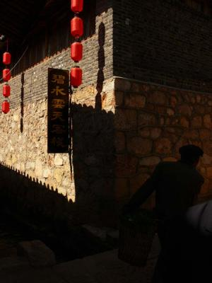 Shadows at the corner, Shuhe, China, 2006