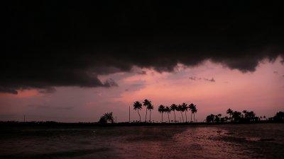 Heavy cloud, Kerala backwaters, India, 2008