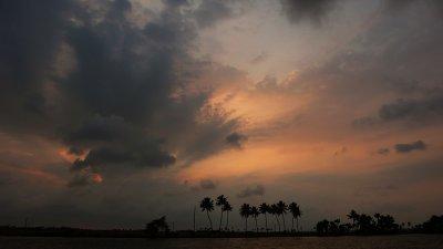Storm cloud, Kerala backwaters, India, 2008