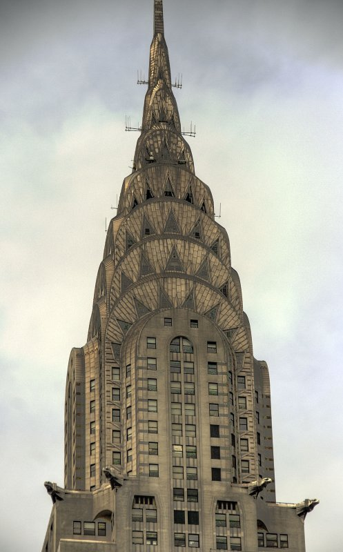 the chrysler building from 42nd street