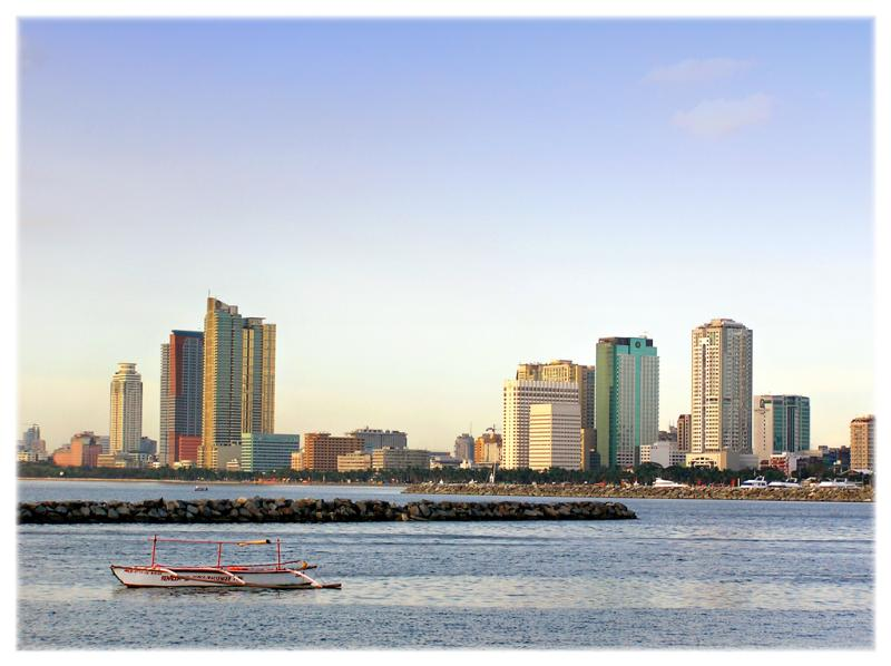 Manila Bay, looking out to Roxas Boulevard
