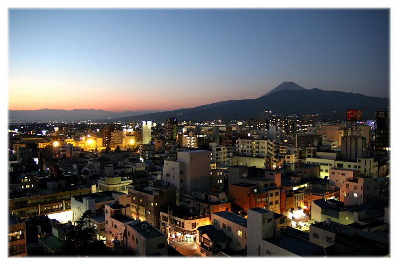 The view from my hotel room, Numazu, Japan