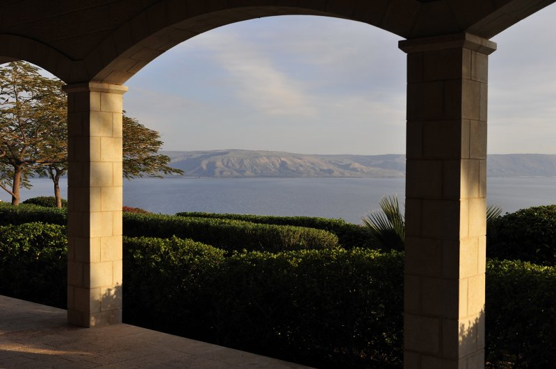 The Sea of Galilee from the Church of the Beatitudes