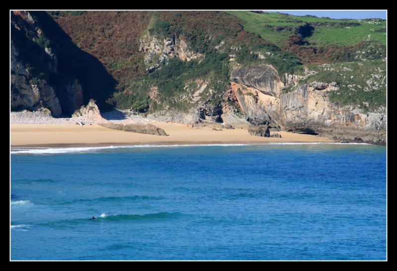 Beach of Ballota from the Cliffs