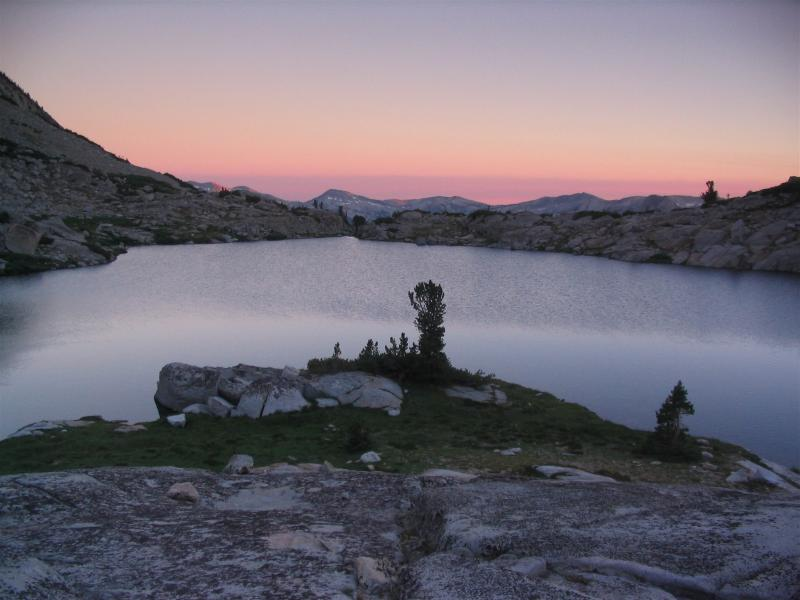Heart Lake near Selden Pass on the Muir Trail