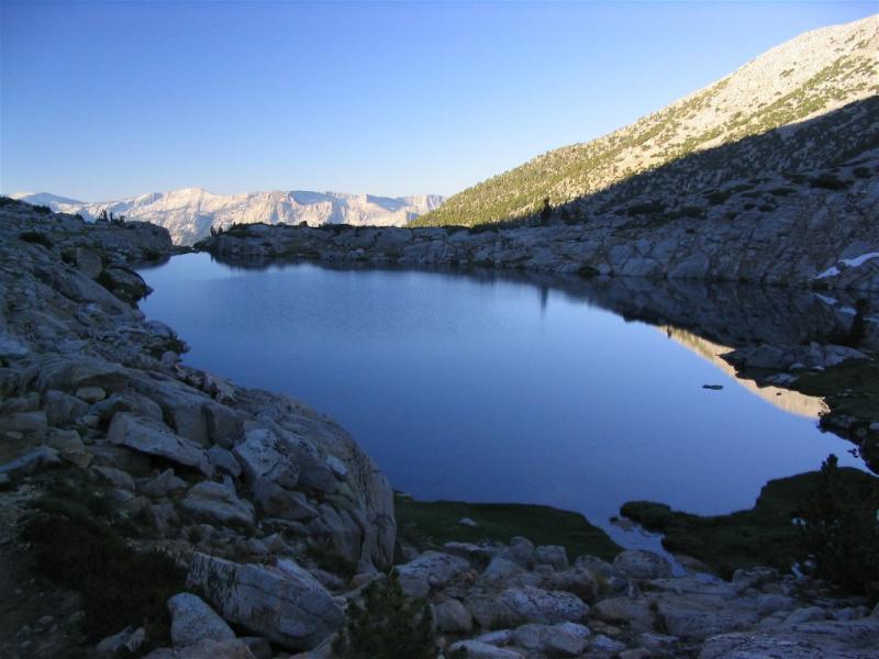 Heart Lake sunrise near Selden pass