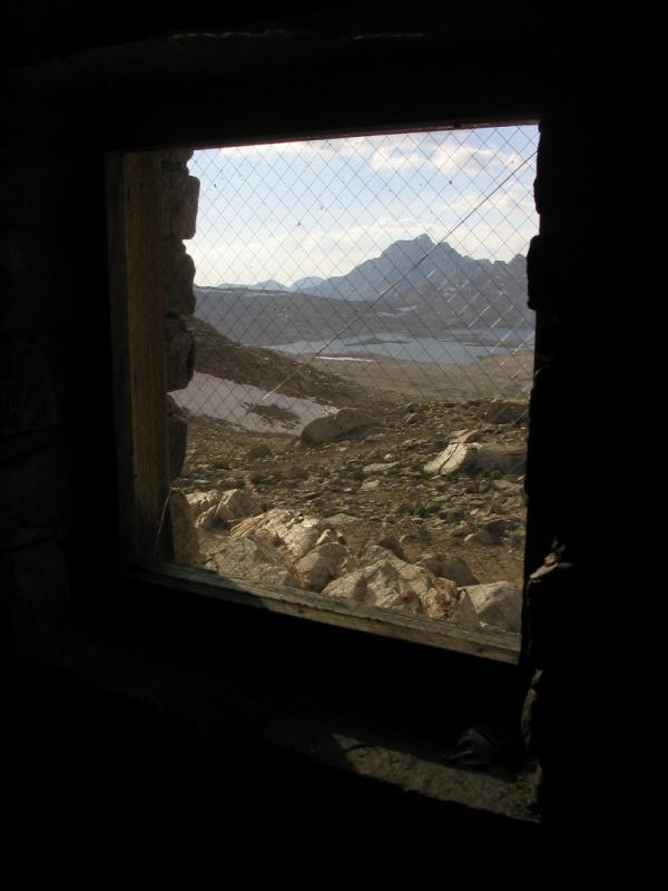 One window, one crack, one incredible view