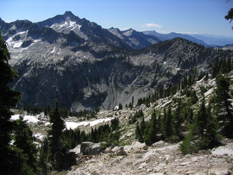 Sawtooth Peak in the distance