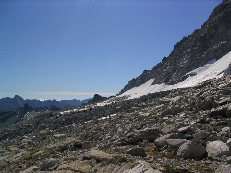 Route to Mirror Lake from Grizzly Lake, and Mirror Pass