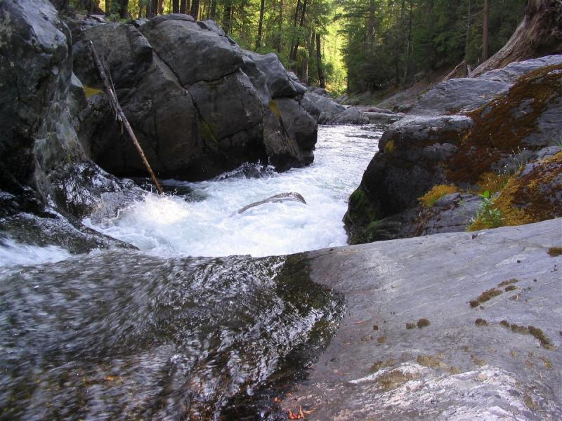 Right Hand Fork of the Salmon river, along the old PCT