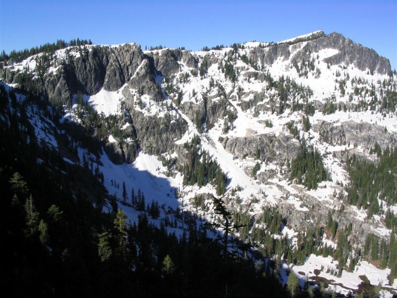 Russian Creek cirque wall