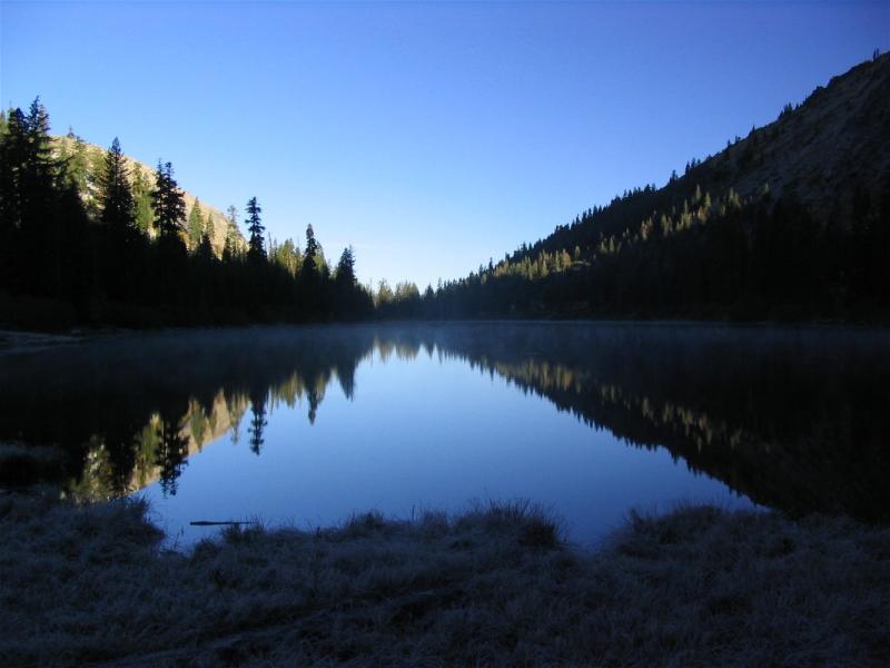 Frosty morning at Taylor Lake