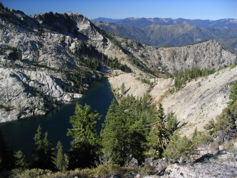 View from east ridge of Big Blue lake