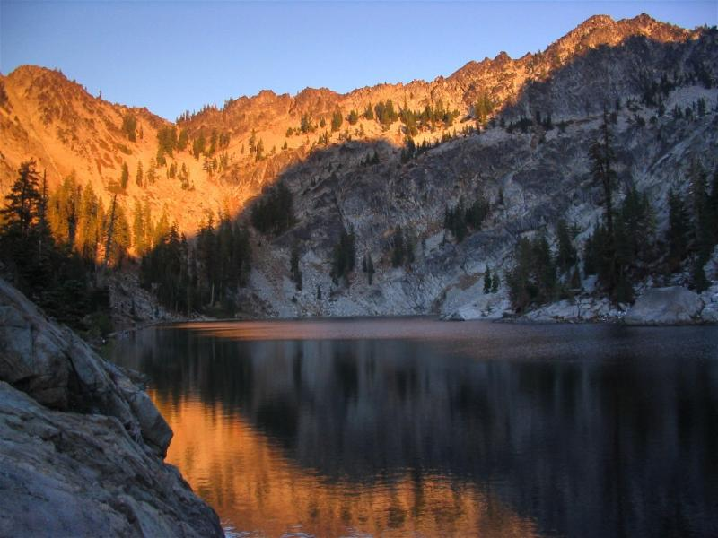 Big Blue Lake at sunset