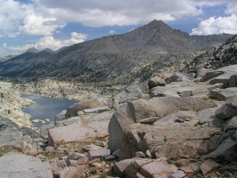 Three Island Lake and Seven Gables from Senger Pass (off trail)