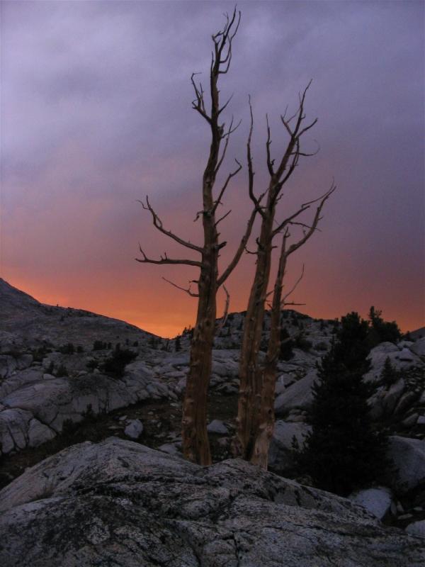 Sunset thunderstorm at Three Island Lake