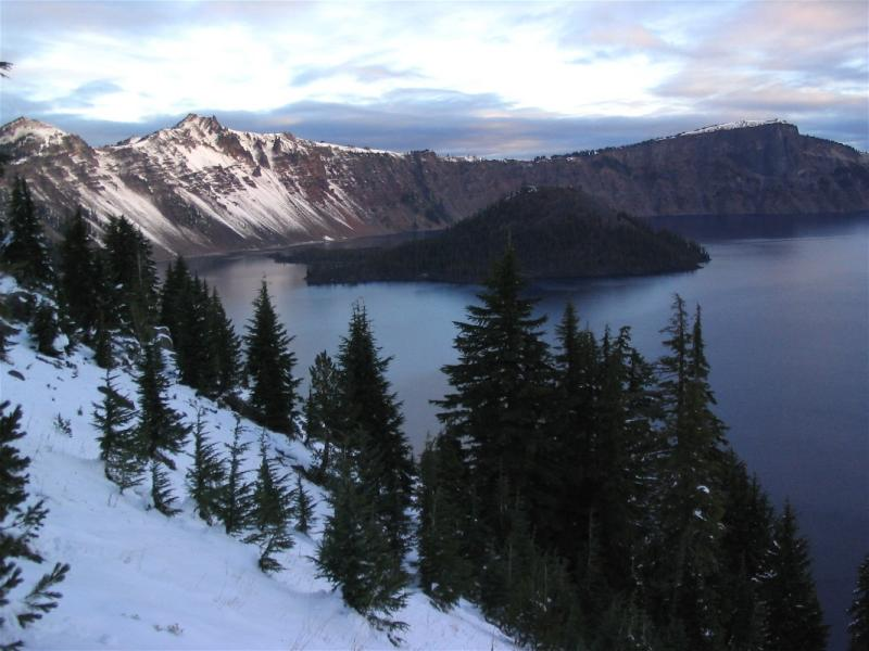 Crater Lake morning in October