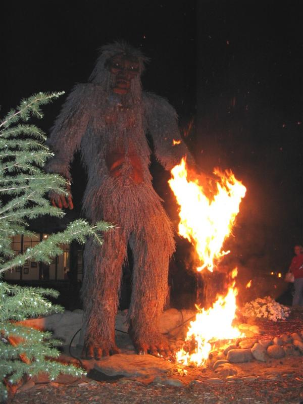 Bigfoot discovers fire