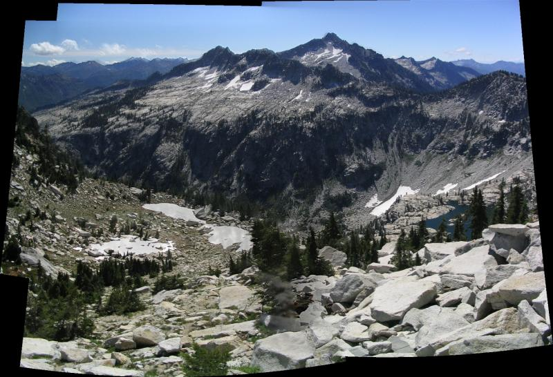 Alps panorama and Mirror Lake