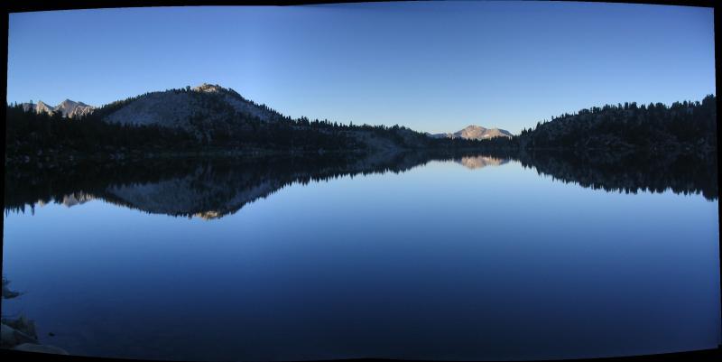 Virginia Lake morning reflections