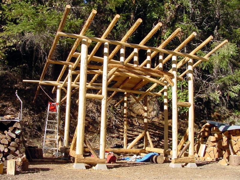 The Woodshed during construction